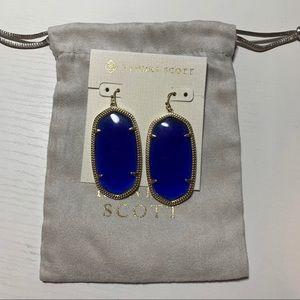 Kendra Scott Gold and Blue Danielle earrings